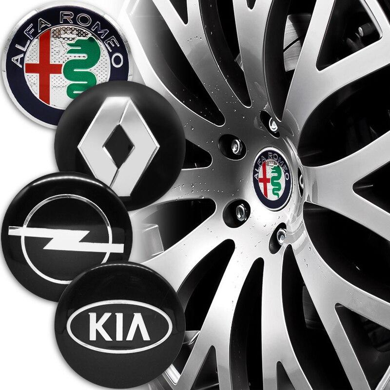 4 шт. 56 мм колпачок на ступицу колеса автомобиля наклейка значок эмблема крышка Для Киа Renault Audi Jeep Lexus Volkswagen R Nissan Skoda и т. д.