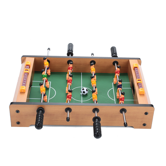Table Football Children Kids Game Hobbies Football Game Football Game Table Portable Practical Wood Color Collection Indoor