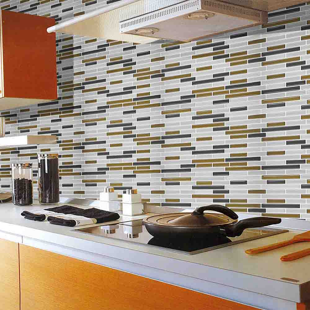 - Kitchen Bathroom 3D Waterproof Self Adhesive Clever Tiles Glitter