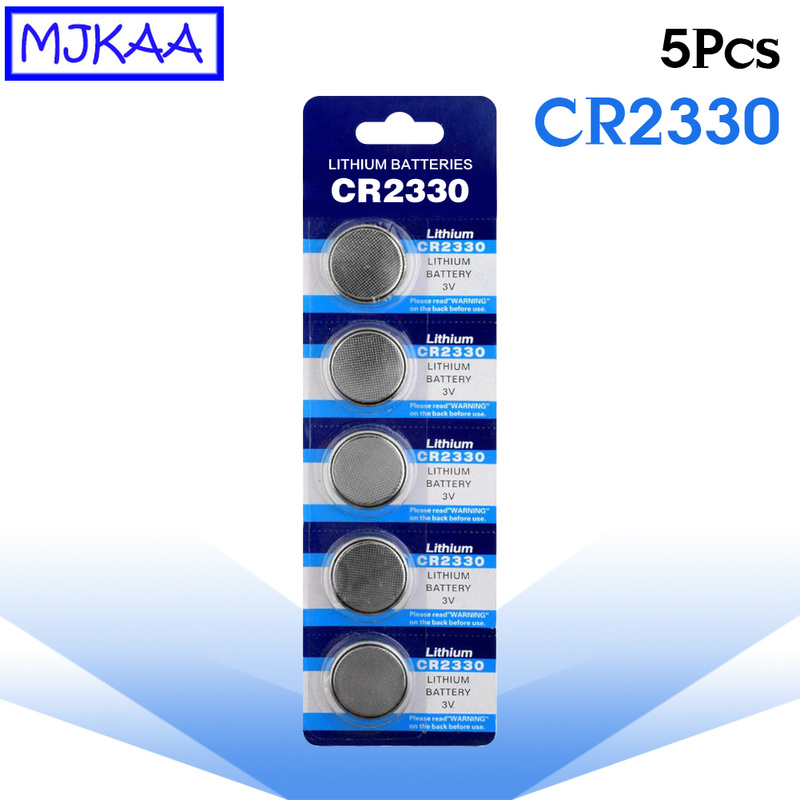 5Pcs CR2330 Lithium 3V Coin Battery 2330 BR2330 ECR2330 KCR2330 EA-2330C Button Cell Batteries for Remote Control LED Flash image