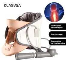 KLASVSA masseur de Traction pour la nuque avec cervicale gonflable, dispositif de thérapie réglable pour la colonne vertébrale, soins de santé et Relaxation
