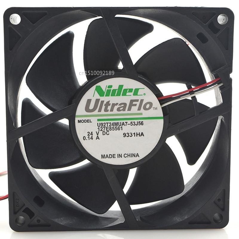 For U92T24MUA7-53J56 DC 24V 0.14A 9025 9CM 90*90*25mm 3 Wires Inverter Cooling Fan Free Shipping
