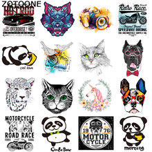 ZOTOONE Cute cat Unicorn heat transfer clothing patch vinyl animal T-shirt DIY micro chapter hot press D