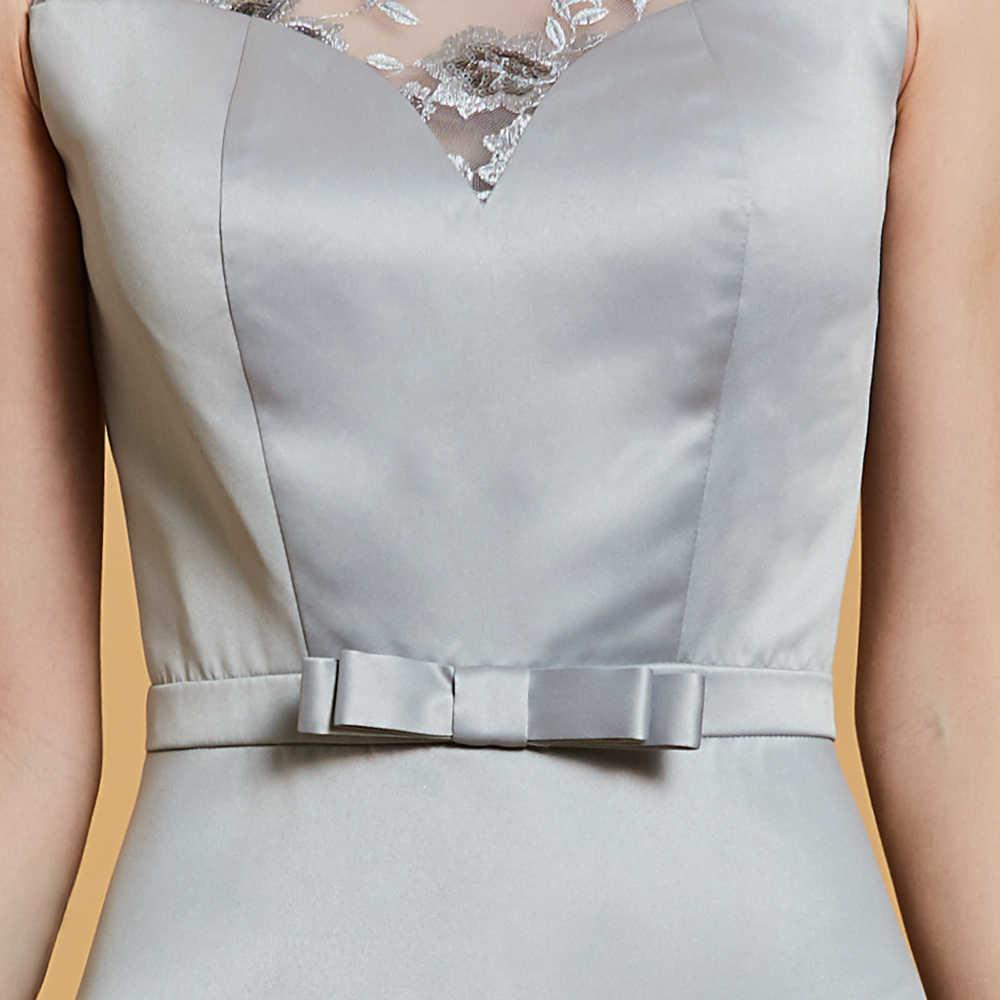 Dressv koronkowe cekiny suknia wieczorowa srebrna z wycięciem długość podłogi suknia wieczorowa kobiety bez rękawów formalne party długie suknie wieczorowe