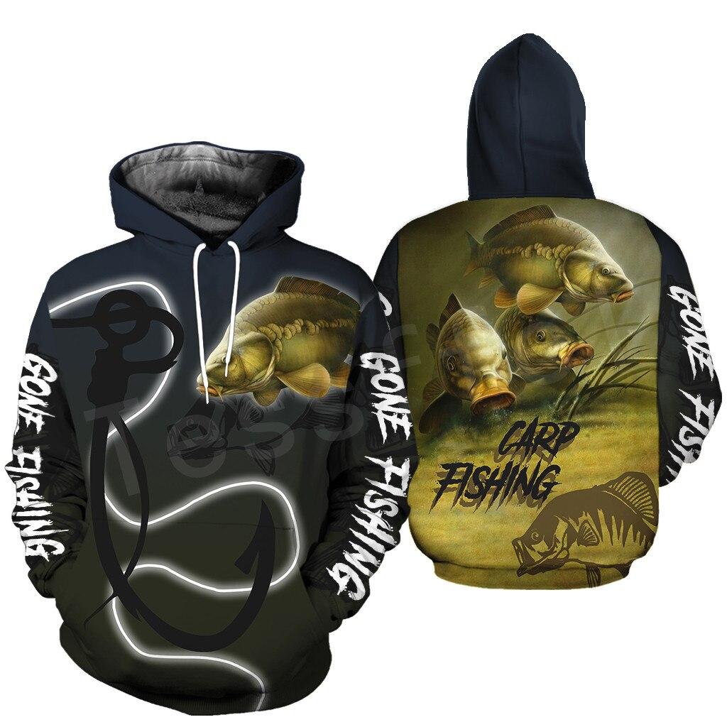 Tessffel New Fashion Animal Fishing Art Harajuku Casual Tracksuit Funny 3D Print Hoodie/Sweatshirt/Jacket/Mens Womens S-2