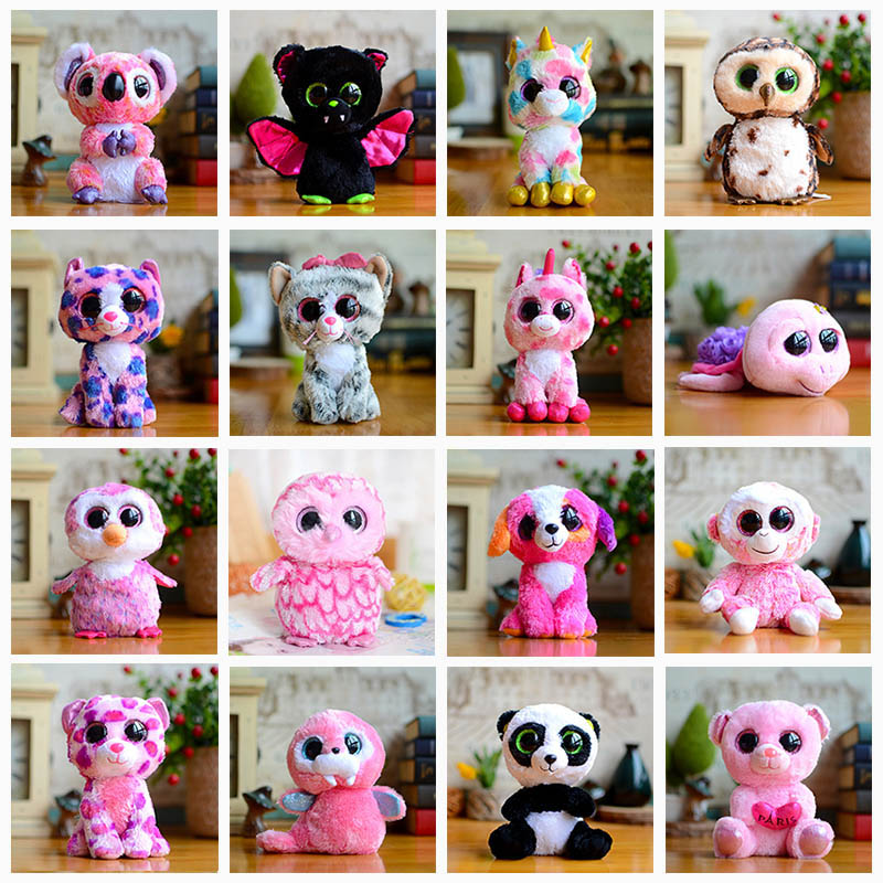 Big Eye Toy Dinosaur Relic Panda Monkey Plush Girl Doll Turtle Bat Cute Animal Owl Lynx Unicorn Dog Soft Koala Cat Kids Gifts