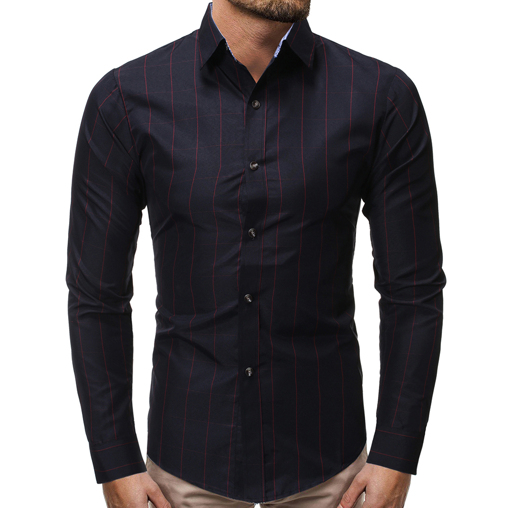 Smallwin Mens Drop Shoulder Sleeve Solid Lapel Neck Button Down Shirts with Pocket