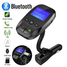 Car Fm Transmitter Bluetooth Wireless In-Car Radio Kit Handsfree And 3 USB Charger Support TF Card & U Disk