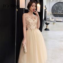 Женское вечернее платье цвета шампанского it's yiiya элегантное