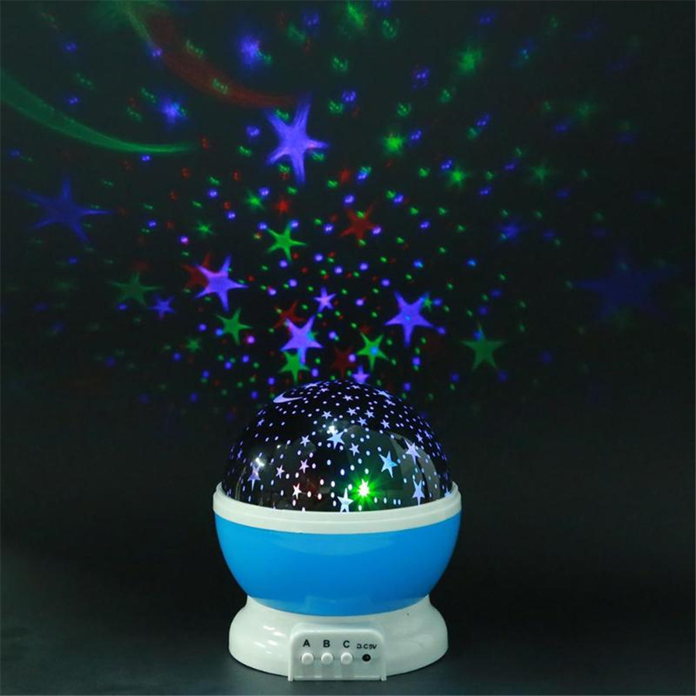 Rotating Night Light Projector Lamp Starry Sky Star Unicorn Children Kids Baby Sleep Romantic Led Projection Lamp USB/AA Battery