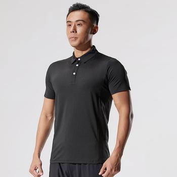 Lato 2021 nowa koszula męska koszulka z krótkim rękawem koszulka z kołnierzykiem odzież golfowa odzież sportowa męska koszulka odzież fitness tanie i dobre opinie BAOGEYANG CN (pochodzenie) Unisex Wiosna summer AUTUMN Poliester Pasuje prawda na wymiar weź swój normalny rozmiar Polo shirt turn-down collar solid color short sleeve
