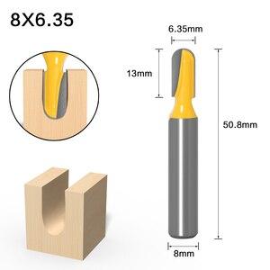 Image 3 - 1PC8mm 샹크 CNC 초경 엔드 밀 도구 긴 블레이드 라운드 코 비트 코어 박스 라우터 비트 긴 도달