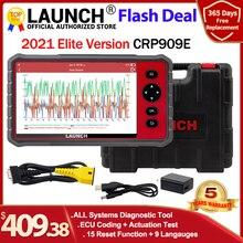 Launch x431 crp909E obd2 스캐너 전체 시스템 자동 코드 리더 wifi 진단 도구 OBDII EOBD 자동차 도구 pk crp909 mk808