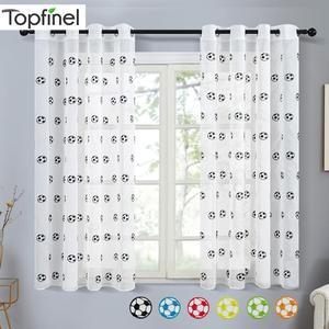 Topfinel Short Sheer Curtains