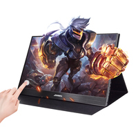 15.6 inch Portable monitor pc HD touch Screen LCD Display IPS HDMI Type C USB gaming monitor for laptop phone xbox switch ps4