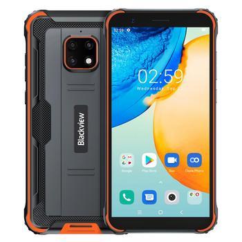 Перейти на Алиэкспресс и купить Blackview BV4900 Pro Android 10 смартфон 4 Гб Оперативная память 64 Гб Встроенная память 5580 мА/ч, 5,7 дюйма Helio / P22 IP68 прочный Водонепроницаемый NFC мобильный те...