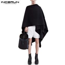 INCERUN Autumn Mens Long Cardigans Coats Loose Couple Casual Jackets Fashion Joker Trench Men Sleeveless Cape Cloak Streetwear