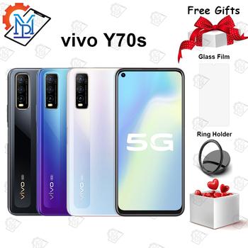New Original vivo Y70s 5G Mobile Phone 6.53inch 6GB +128GB Exynos 880 Octa-core Android 10 4500mAh Face ID Smartphone