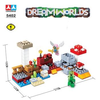 цена на Compatible Lepining MinecraftINGLys My World Dolls Building Blocks Toy Kit DIY Educational Children Christmas Birthday Gifts