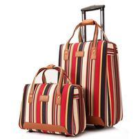 Frauen reisen Gepäck Tasche kabine gepäck koffer trolley mit rädern tragen auf gepäck Tasche Roll Wheeled Travel Internat tasche