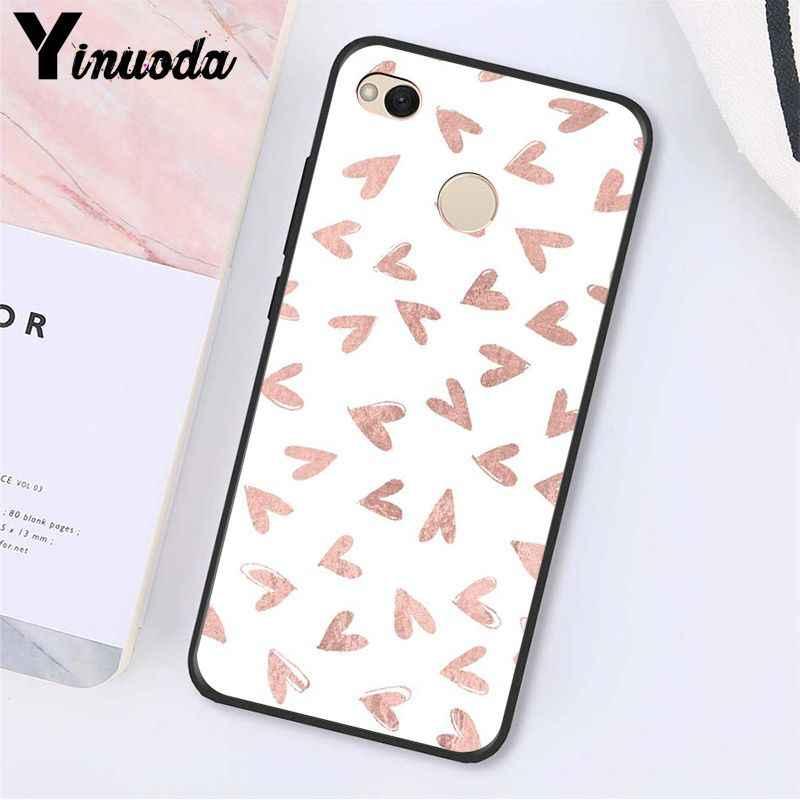 Yinuoda GOLD Glitter สีชมพูหินอ่อนโทรศัพท์กรณีสำหรับ Xiaomi Note3 MI5 6 A1 A2 Lite Mi9 9SE mi8lite 8 Explorer