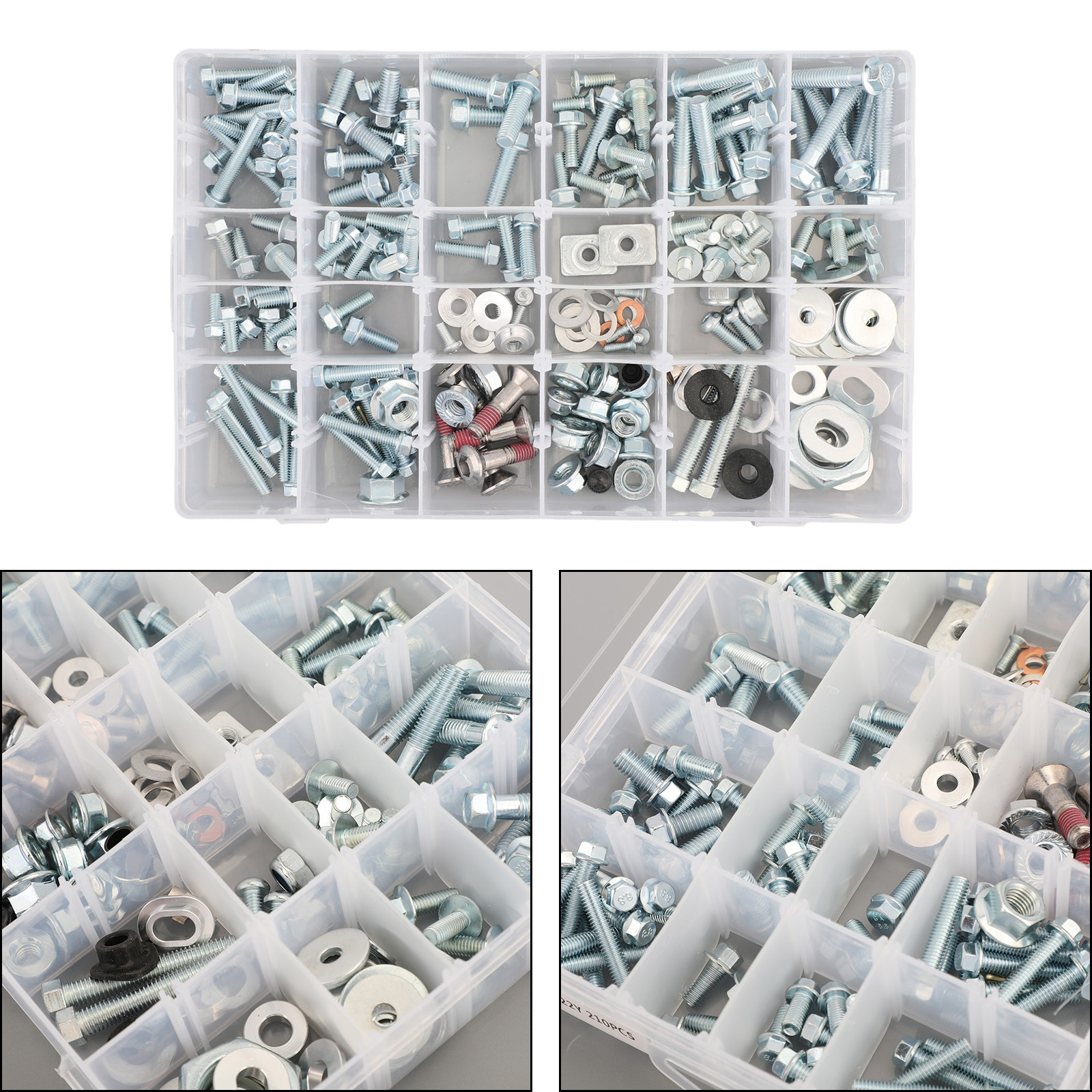 Artudatech <font><b>Body</b></font> Plastic Frame Seat 210PCS Bolt Fairing <font><b>Kit</b></font> Fit for <font><b>Yamaha</b></font> YZ 80 250 450 YZF 250 450 R1 <font><b>R6</b></font> 2019 2020 Accessories image