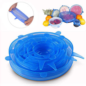 Pot-Cover Bowl Pot Lid Stretch-Lids Kitchen-Accessories Universal Silicon Reusable 6pcs