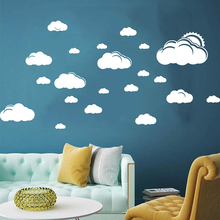 Cartoon Sun Clouds Sky Wall Decal Baby Nursery Kids Room Cute Nature Sticker Bedroom Playroom Vinyl Home Decor