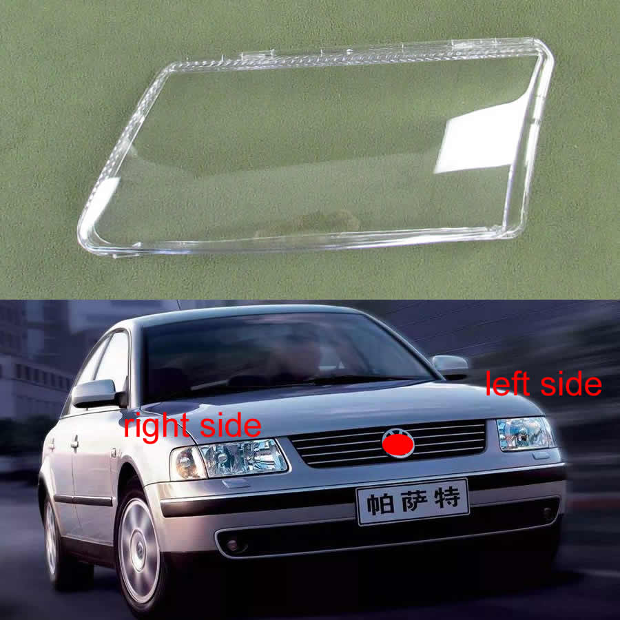 For Volkswagen VW Passat B5 1996-2010 Front Headlamps Cover Transparent PC Lampshade Headlight Shell Glass Lampshade Shell