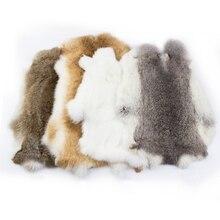 Натуральное кроличье Украшение DIY, швейная ткань, пушистая кроличья кожа, украшение для дома, аксессуары для одежды, сырое высококачественн...