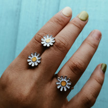 17KM Vintage Flower Rings For Women Adjustable Opening Ring 2019 Anillos Female Flower Jewelry Personalized Party Accessories(China)