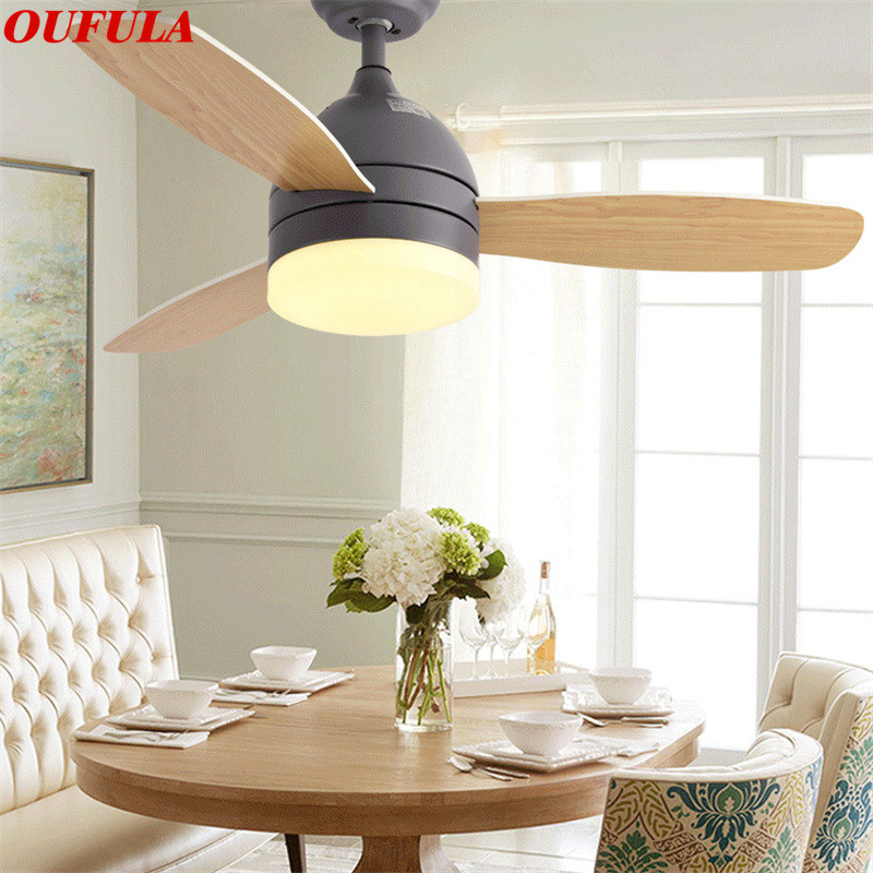 Romantic Aosong Modern Ceiling Fan Lights With Remote Control Wooden Fan Blade Home Decorative For Living Room Bedroom Restaurant 100% Original