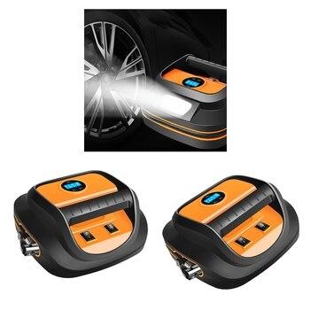 2 Inflator Car Tire Compressor Portable 12V Inflator Air Compressor LCD Screen For Inflate Car Tire With LED Lamp