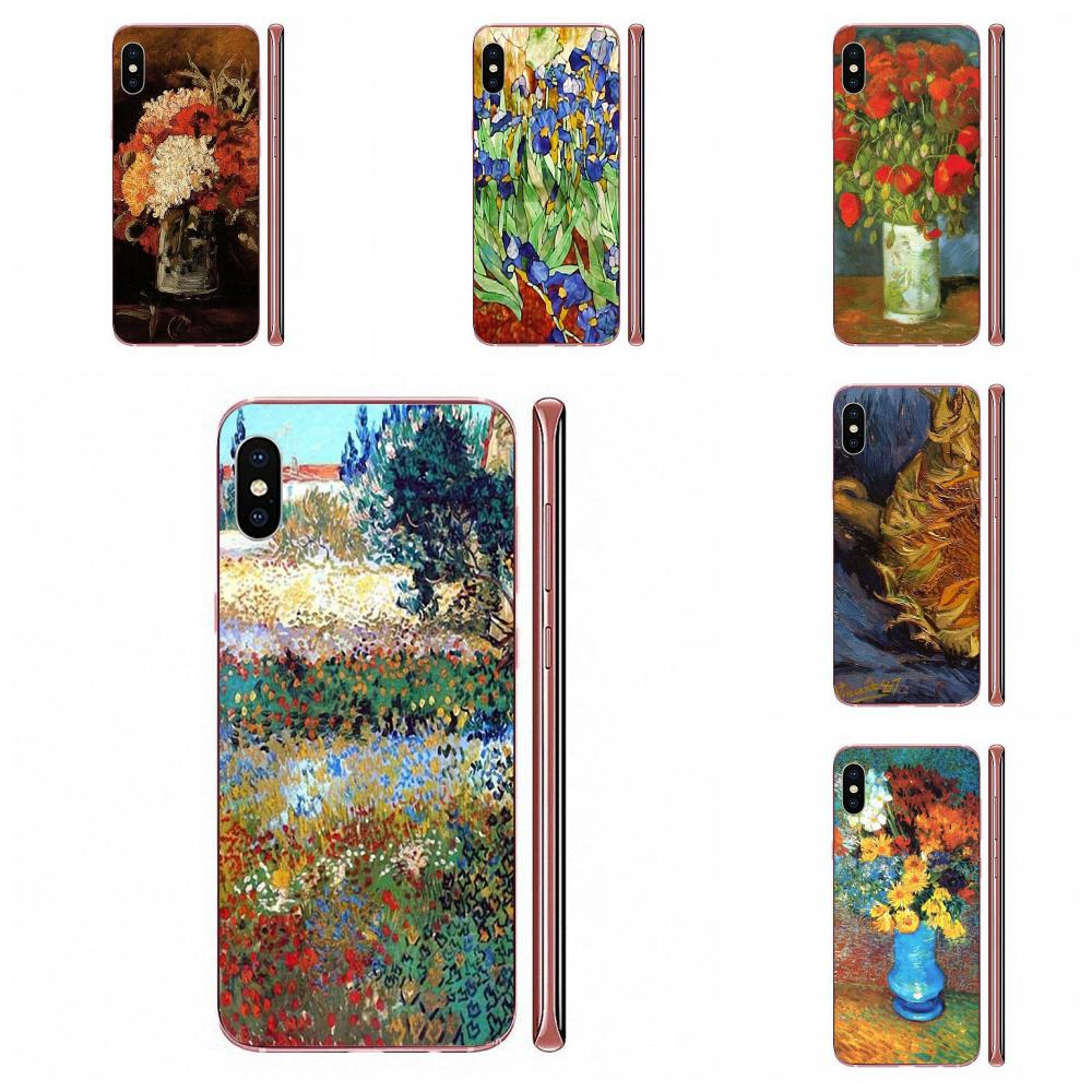Soft TPU <font><b>Phone</b></font> <font><b>Case</b></font> Skin Cover For <font><b>Samsung</b></font> Galaxy A10 A20 A20E A3 A40 <font><b>A5</b></font> A50 A7 J1 J3 J4 J5 J6 J7 <font><b>2016</b></font> 2017 2018 Van Gogh Flower image