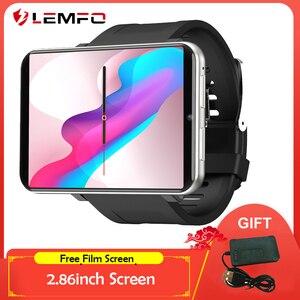 LEMT-reloj inteligente 4G para hombre y mujer, Android 7,1, 32GB + 3GB, pantalla de 2,86 pulgadas, compatible con tarjeta SIM, GPS, WiFi, Batería grande de 2700mAh