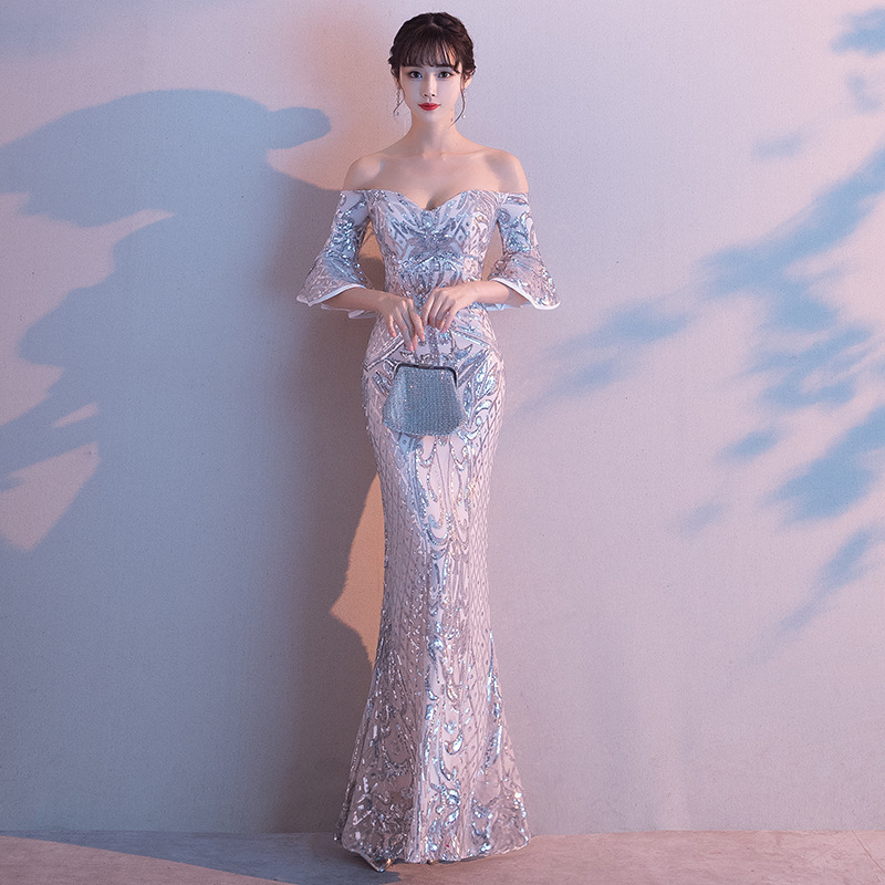 Cocktail Dress Evening Dress Female 2020 New Style Noble Banquet Long Sexy Temperament Fishtail