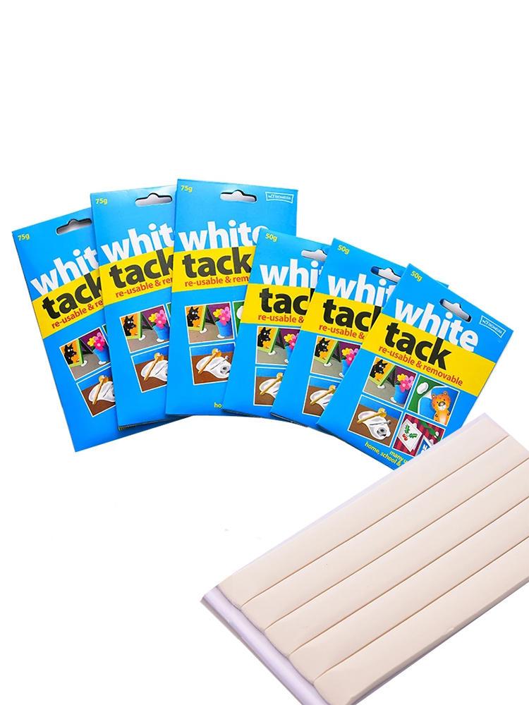 Белая клейкая глина, 50 г, многоразовая клейкая Съемная клейкая вкладка, многофункциональная безопасная клейкая Подвеска для творчества