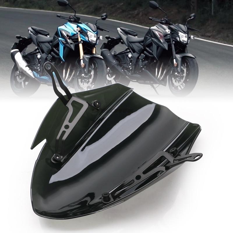 Motorcycle Black Windscreen Windshield Shield Screen With Bracket For Suzuki GSX-S750 GSXS750 GSX-S GSXS 750 2017 2018 2019