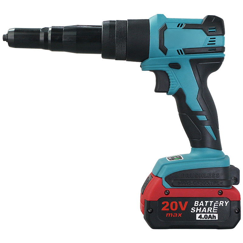 Charging Rivet Gun 20V Lithium Electric Blind Rivet Gun Automatic Core Pulling Rivet Gun Electric Rivet Gun