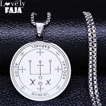 2021 arcanjo raphael amuleto aço inoxidável colar de instrução prata cor proteção saint pingente jóias n877s03