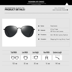 Image 5 - ELITERA lunettes de soleil yeux de chat femme