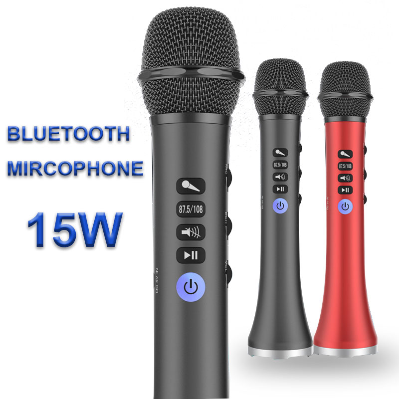 L-698 Professional 15W Portable USB Wireless Bluetooth Karaoke Microphone Speaker Home KTV For Music Playing And Singing Speaker