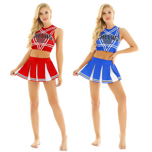 Image 5 - Ons Uk Voorraad Vrouwen Japanse Schoolmeisje Cosplay Uniform Meisje Sexy Lingerie Gleeing Cheerleader Kostuum Set Halloween Kostuum Femme