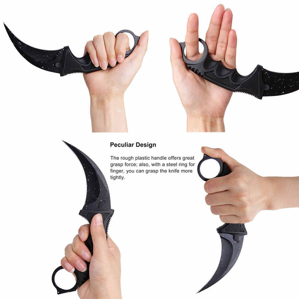 Стальной коготь ножи Karambit охотничий нож CS GO Тактический коготь Шейный нож Походный походный уличный нож для самозащиты охотничий нож для выживания