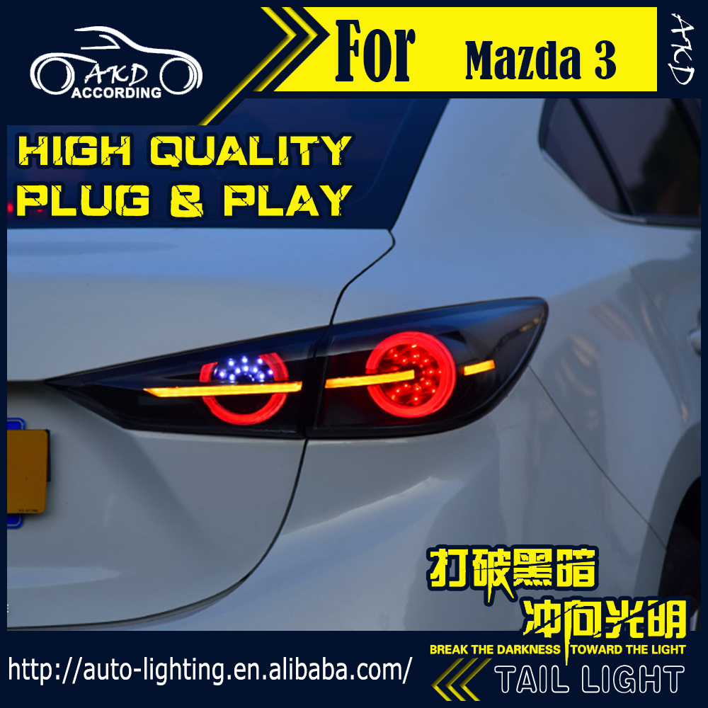 AKD Car Styling Tail Lamp for <font><b>Mazda</b></font> 3 Tail <font><b>Lights</b></font> Mazda3 Axela Sedan <font><b>LED</b></font> Tail <font><b>Light</b></font> Dynamic <font><b>LED</b></font> Signal DRL Rear Lamp Accessories image