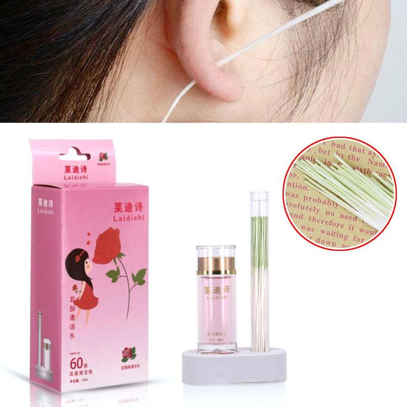 Pierced Ear Cleaning Set Herb Solution Paper Floss Ear Hole Aftercare Tools Cleaning Descaling To Odor-resistant Allergy Care