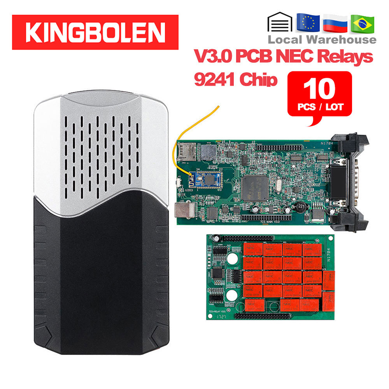 10pcs/Lot CDP TCS New VCI 2016 R0 Keygen Dual Green Board V3.0 9241A OBDII/OBD2 Diagnostic Tool Auto Scanner