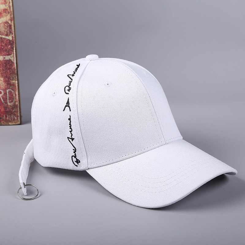 Top Caps Printing Letter Embroidery Casual Hats Solid Pure Color Cap Adjustable Hip Hop Fashion Snapback Caps For Men Women