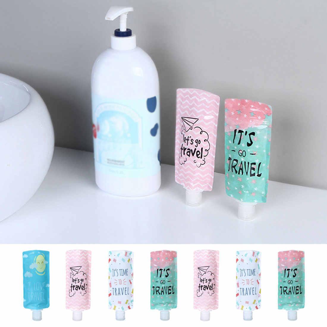 1 sztuk podróży butelka z mydłem w płynie do napełniania kosmetyków torba przenośna torba do pakowania szampon/płyn do makijażu sub butelki