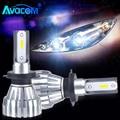 2 шт. светодиодный H1 H11 автомобилей фары лампы 12V 9005/HB3 9006 9012/HIR2 12V Мини светодиодный H4 H7 автомобиль супер яркий светодиодный светильник на скла...